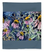 Echinacea Cone Flower Art Fleece Blanket