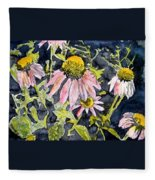 Echinacea Coneflower 2 Fleece Blanket