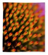 Echinacea Coneflower Abstract Fleece Blanket