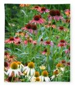 Echinacea Multi Mix Fleece Blanket