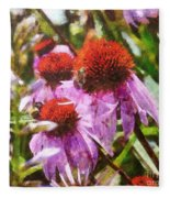 Echinacea Watercolor 2015 Fleece Blanket