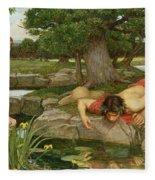 Echo And Narcissus Fleece Blanket