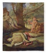 Echo And Narcissus  Fleece Blanket