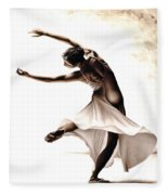 Eclectic Dancer Fleece Blanket