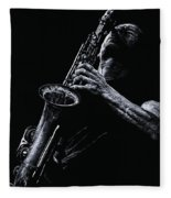 Eclectic Sax Fleece Blanket