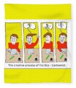 Eco Cartoonist Fleece Blanket