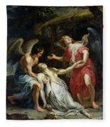 Ecstasy Of Mary Magdalene Fleece Blanket