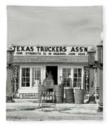 Edcouch Texas Gas Station 1939 Fleece Blanket