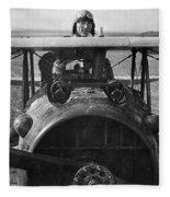 Eddie Rickenbacker - World War One - 1918 Fleece Blanket