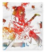 Eddie Van Halen Paint Splatter Fleece Blanket