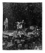 Eddie Vedder Rock God Pose Pearl Jam Fleece Blanket