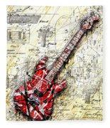 Eddie's Guitar 3 Fleece Blanket
