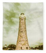 Eddystone Point Lighthouse Fleece Blanket