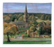 Edensor - Chatsworth Park - Derbyshire Fleece Blanket