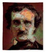 Edgar Allan Poe Artsy 2 Fleece Blanket