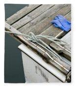 Edgartown Fishing Boat Fleece Blanket