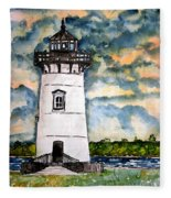 Edgartown Lighthouse Martha's Vineyard Mass Fleece Blanket