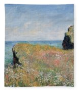 Edge Of The Cliff Pourville Fleece Blanket