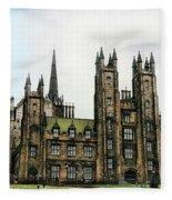 Edinburgh Architecture 3 Fleece Blanket