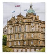 Edinburgh Bank Of Scotland Building Fleece Blanket