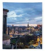 Edinburgh From Calton Hill Fleece Blanket