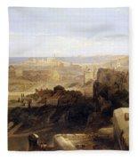 Edinburgh From The Castle Fleece Blanket