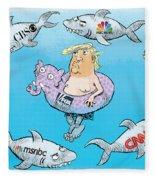 Editorial Cartoonist Fleece Blanket