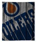 Edmonton Oilers Wood Fence Fleece Blanket