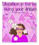 Education Is The Key Fleece Blanket