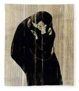Edvard Munch: The Kiss Fleece Blanket