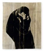 Edvard Munch: The Kiss Fleece Blanket