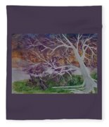 Eerie Gothic Landscape Fine Art Surreal Print Fleece Blanket