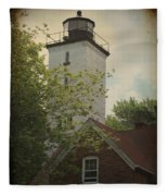 Erie Lighthouse 1872 Fleece Blanket