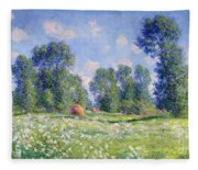 Effect Of Spring At Giverny Fleece Blanket