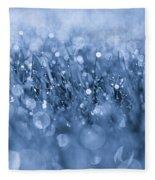 Effervescent Layered Blues Fleece Blanket