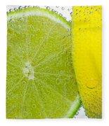 Effervescent Lime And Lemon By Kaye Menner Fleece Blanket