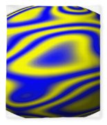 Egg In Space Blue And Yellow Fleece Blanket