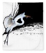 Egret 2 Fleece Blanket