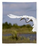 Egret Ballet Fleece Blanket
