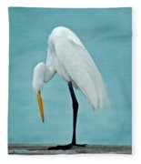 Egret Foot Inspection Fleece Blanket