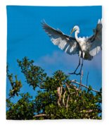 Egret Landing Fleece Blanket