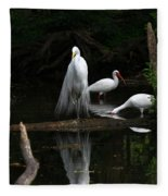 Egret Reflection Fleece Blanket