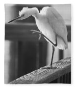 Egret Tai Chi Fleece Blanket