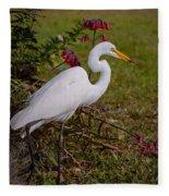 Egret's Meal Fleece Blanket