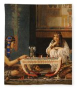 Egyptian Chess Players Fleece Blanket