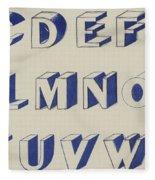 Egyptian For Carving Vintage Blue Font Design Fleece Blanket