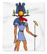 Egyptian God - Khensu Fleece Blanket