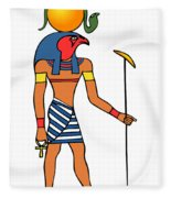 Egyptian God Of The Sun - Ra Fleece Blanket