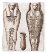 Egyptian Mummy, Illustration Fleece Blanket