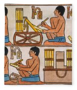 Egyptian Scribes Fleece Blanket
